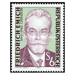 1 عدد تمبر فردریش امیچ - بنیانگذار میکرو شیمی - اتریش 1990