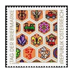 1 عدد تمبر روز تمبر  - اتریش 1990
