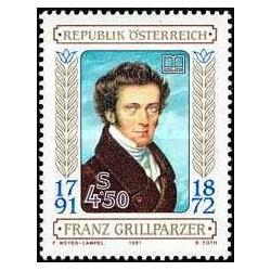 1 عدد تمبر فرانز گریل پارزر - نویسنده - اتریش 1991