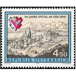 1 عدد تمبر هشتصدمین سال شهر اسپیتال - اتریش 1991