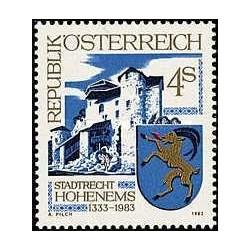 1 عدد تمبر هوهنمز - اتریش 1983
