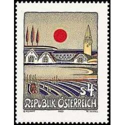 1 عدد تمبر هنر مدرن - تابلو نقاشی - اتریش 1983