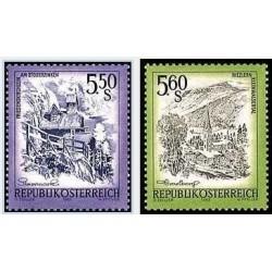 2 عدد تمبر سری پستی مناظر - اتریش 1982