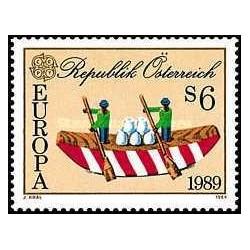 1 عدد تمبر مشترک اروپا - Europa Cept - بازیهای کودکان - اتریش 1989