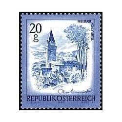 1 عدد تمبر سری پستی مناظر  - اتریش 1980