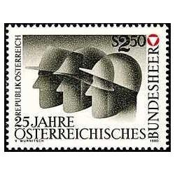 1 عدد تمبر 25مین سال ارتش فدرال اتریش - اتریش 1980