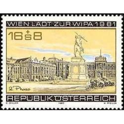 1 عدد تمبر نمایشگاه تمبر ویپا 1981 در وین - اتریش 1980