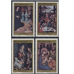 4 عدد تمبر کریستمس - نیکاراگوئه 1983