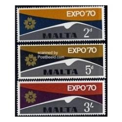 3 عدد تمبر اکسپو - اوزاکا - مالت 1970