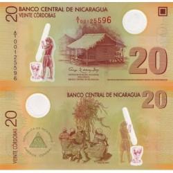 اسکناس پلیمر 20 کوردوباس - نیکاراگوئه 2007