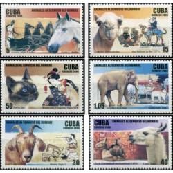 6 عدد تمبر حیوانات خادم بشر - کوبا 2006