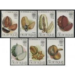 7 عدد تمبر فائو - میوه ها - نیکاراگوئه 1986
