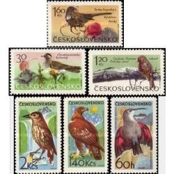 6 عدد تمبر پرندگان - چکوسلواکی 1965