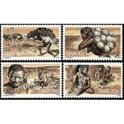 4 عدد تمبر زندگی بوشمن ها - آفریقای جنوب غربی 1978