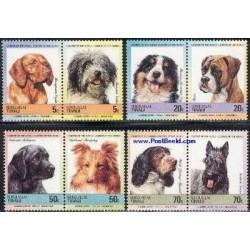8 عدد تمبر سگها - توالو 1985