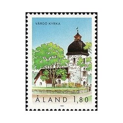 1 عدد تمبر کلیسای واردو - آلاند 1991