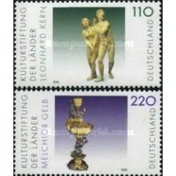 2 عدد تمبر اشیا هنری - جمهوری فدرال آلمان 2000