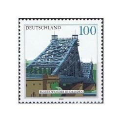 1 عدد تمبر پل آبی رنگ درسدن - جمهوری فدرال آلمان 2000