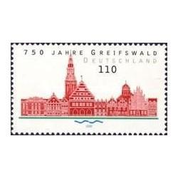 1 عدد تمبر 750 سالگی گریفسوالد - جمهوری فدرال آلمان 2000