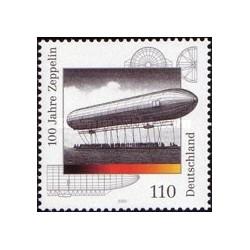 1 عدد تمبر 100مین سال زپلین - جمهوری فدرال آلمان 2000