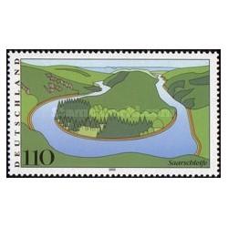 1 عدد تمبر مناظر آلمان - Saarschleife - جمهوری فدرال آلمان 2000