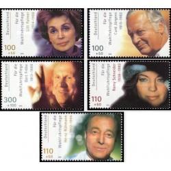 5 عدد تمبر هنرپیشگان آلمان - جمهوری فدرال آلمان 2000
