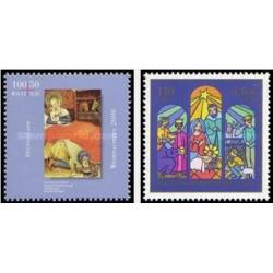 2 عدد تمبر کریستمس - جمهوری فدرال آلمان 2000