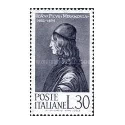 1 عدد تمبر 500مین سال تولد پیکو - ایتالیا 1963