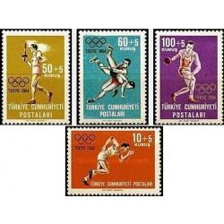 4 عدد تمبر المپیک توکیو - ترکیه 1964