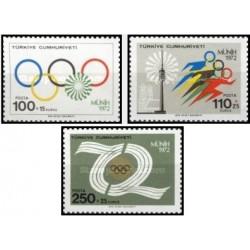 3 عدد تمبر المپیک مونیخ - ترکیه 1972