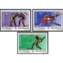 3 عدد تمبر المپیک بارسلونا - اسپانیا 1992