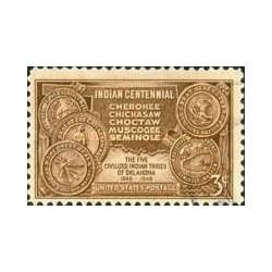 1 عدد تمبر صدمین سال پیوستن به عهدنامه هند - آمریکا 1948
