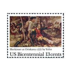 1 عدد تمبر تابلو نقاشی - هرکیمر در نبرد اوریسکانی - آمریکا 1977
