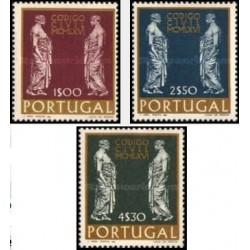 3 عدد تمبر قانون جدید مدیریت قضائی   - پرتغال 1967