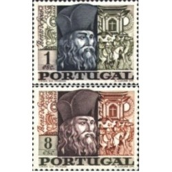 2 عدد تمبر 400مین سال تولد بنتو گوئز - کشیش  - پرتغال 1968