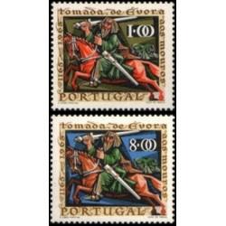 2 عدد تمبر 800مین سالگرد تسخیر دوباره اوورا - پرتغال 1966