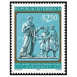 1 عدد تمبر دویستمین سال آموزش و پرورش ناشنوایان در اتریش - اتریش 1979