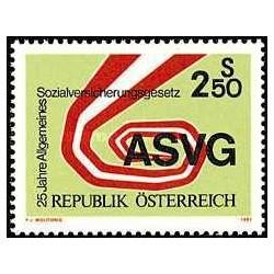 1 عدد تمبر بیست و پنجمین سال ASVG - اتریش 1981