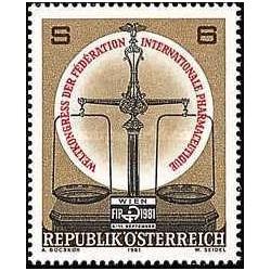 1 عدد تمبر کنگره جهانی اتحادیه بین المللی داروئی  - اتریش 1981