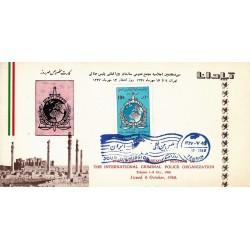 مهر روز انتشار تمبر سی وهفتمین مجمع عمومی پلیس بین المللی 1347