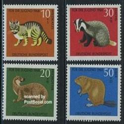 4 عدد تمبر جوانان - حیوانات - آلمان 1968
