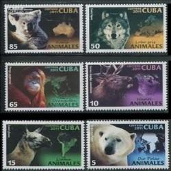 6 عدد تمبر حیوانات - کوبا 2011