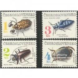 4 عدد تمبر حشرات - چک اسلواکی 1992