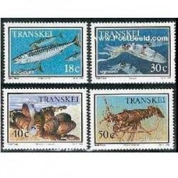 4 عدد تمبر آبزیان - ترنسکی - آفریقای جنوبی  1989