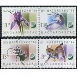 4 عدد تمبر حیوانات - مجارستان 1996