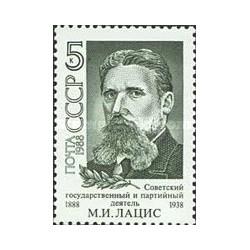 1 عدد تمبر یادبود مارتین لاتسیز - سیاستمدار - شوروی 1988