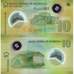 اسکناس پلیمر 10 کوردوباس - نیکاراگوئه 2012