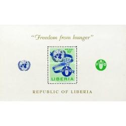 سونیرشیت نجات از گرسنگی - پست هوائی - لیبریا 1963