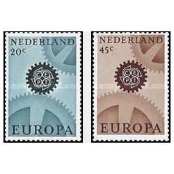 2 عدد تمبر مشترک اروپا - Europa Cept- هلند 1967