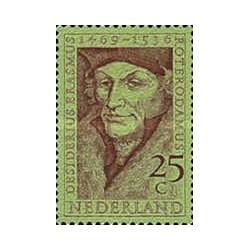 1 عدد تمبر یادبود دسیدریوس اراسموس - فیلسوف و ادیب - هلند 1969